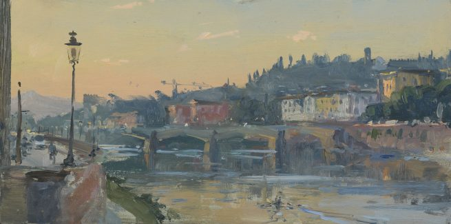 Dawn on the Arno, Florence