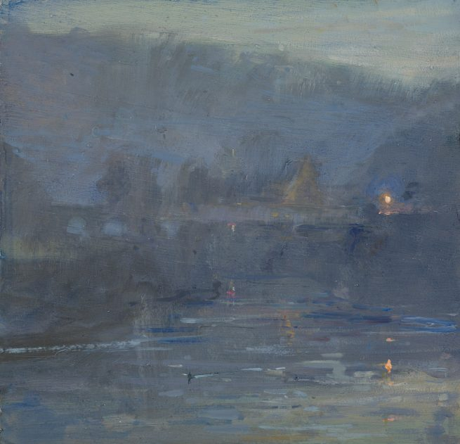 Twilight, The Wireworks Bridge and Abbey, Tintern
