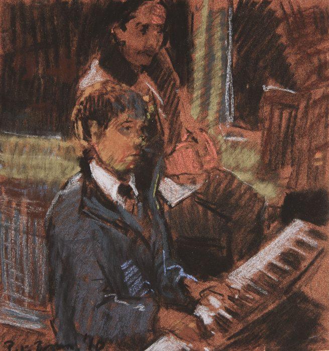 Toby, Piano Lesson