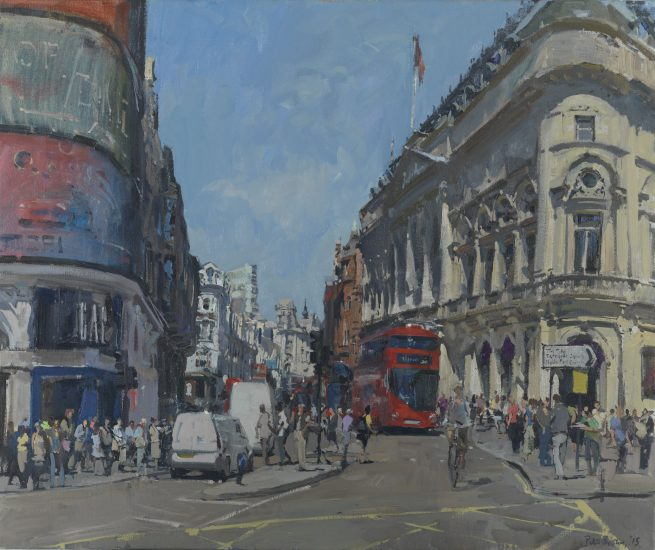 The Bottom of Shaftesbury Avenue from Piccadilly