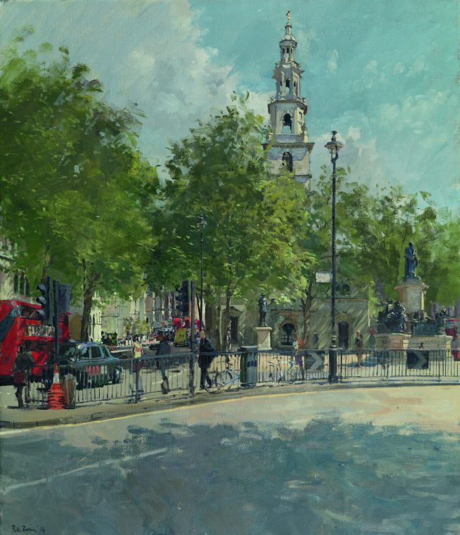 April, St Clements and Fleet Street from the Aldwych