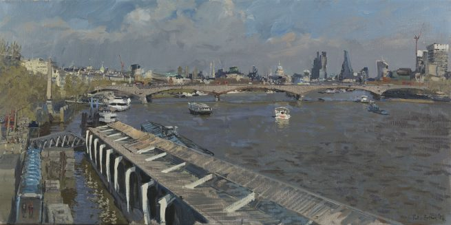 April Afternoon, Waterloo Bridge from Hungerford Bridge