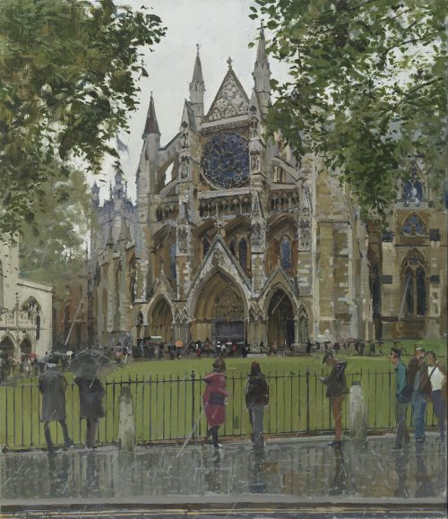 Westminster Abbey, The East Gate (Rain)