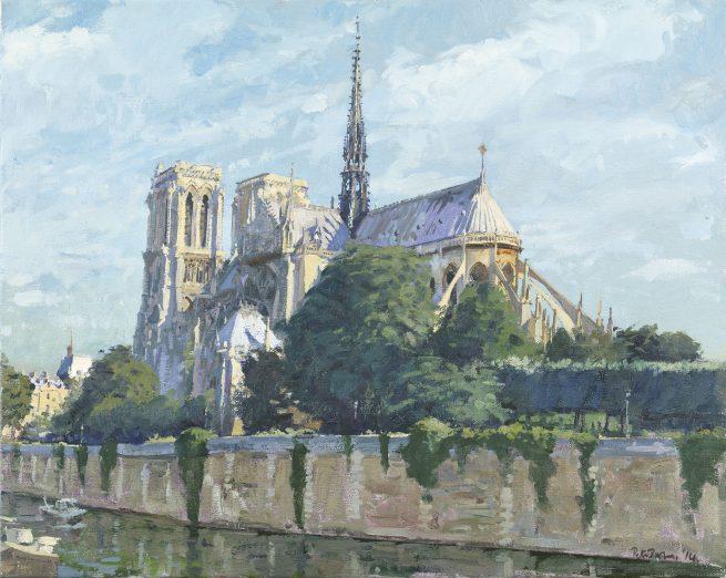 Morning, Notre-Dame from Pont de L'Arceveche