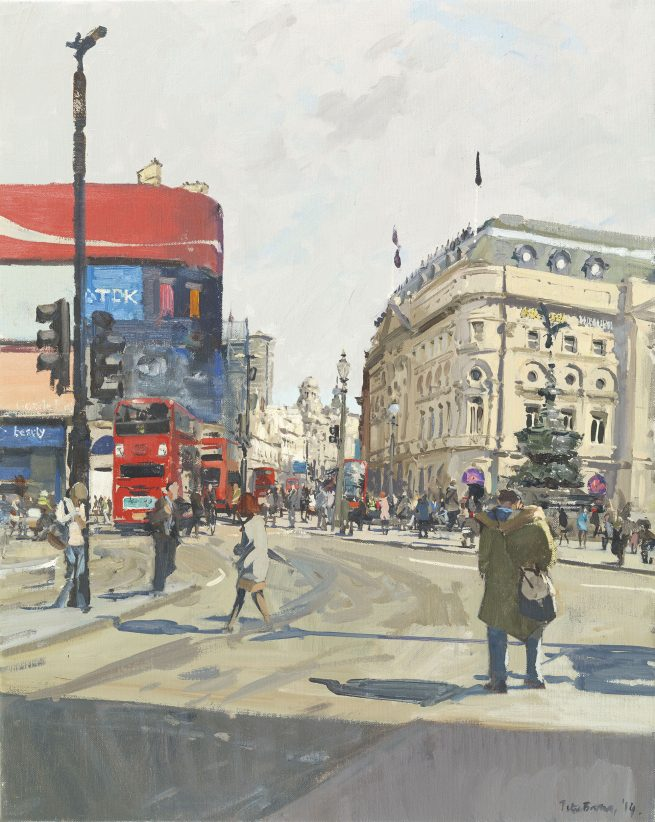 Piccadilly Circus, towards Shaftesbury Avenue