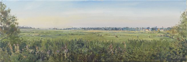 Blackshore and Walberswick from the Golf Course, Early Morning