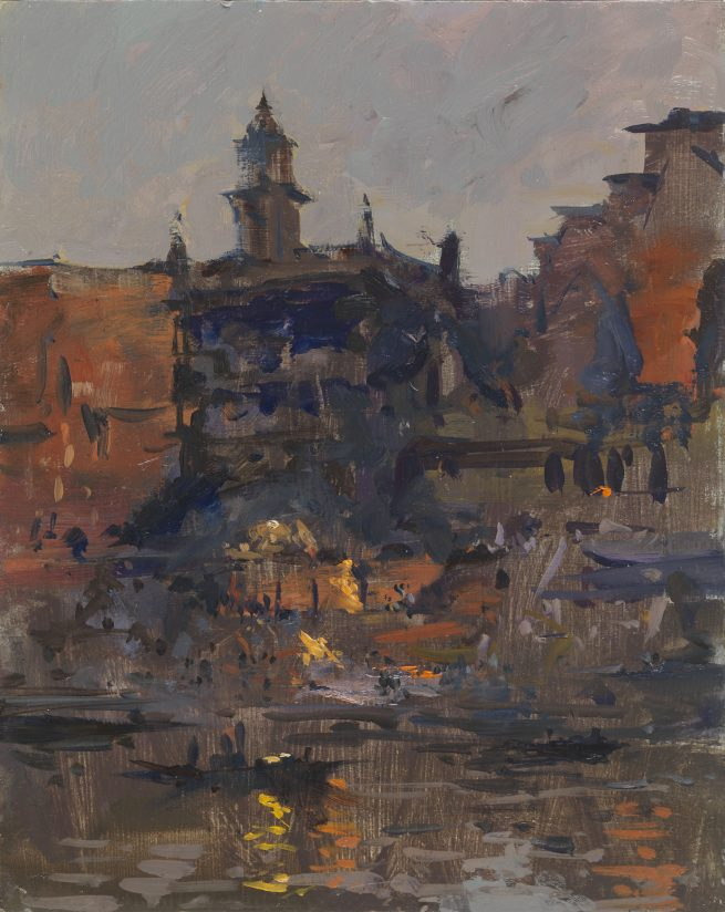 The Burning Ghat, Study