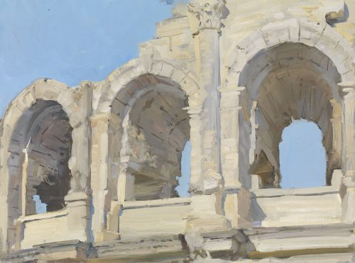 Afternoon light, arches, the Amphitheatre, Arles