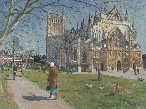 Exeter Cathedral, Sunshine