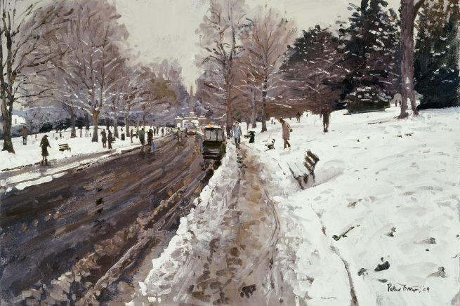 Snow, Royal Avenue, Bath