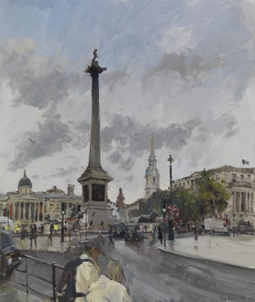 Trafalgar Square, Light Rain