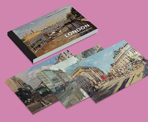 Postcards-London-paintings-set-of-16