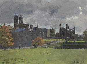 Peter Brown, Autumn Morning, Sun and Rain, The Stonyhurst Geese