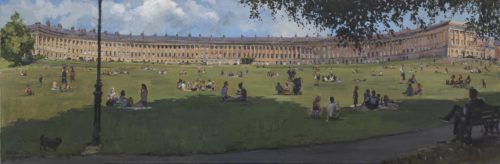 Relaxing of Lockdown, The Royal Crescent, Bath, June 2020