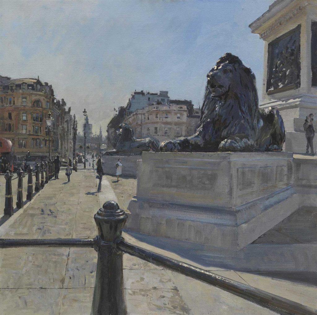 London Begins to Come Back, Trafalgar Square, April 2021